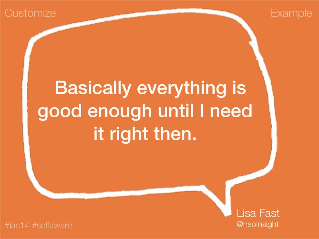 Example #ias14 #selfaware Basically everything ...