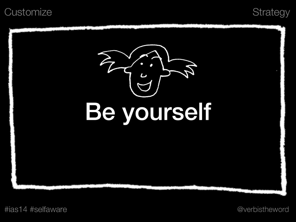 Strategy #ias14 #selfaware @verbistheword Be yo...