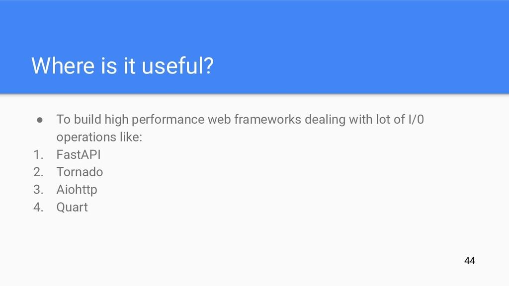 ● To build high performance web frameworks deal...
