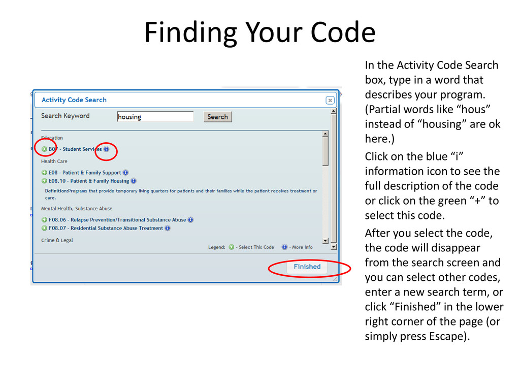 Finding Your Code In the Activity Code Search b...
