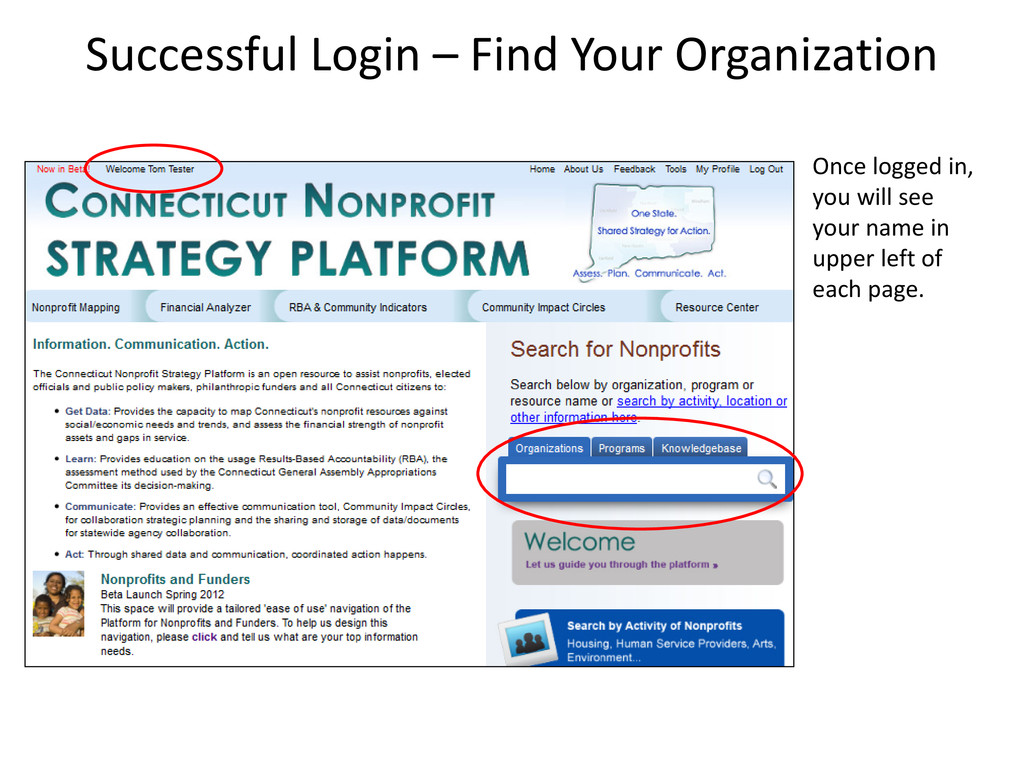 Successful Login – Find Your Organization Once ...
