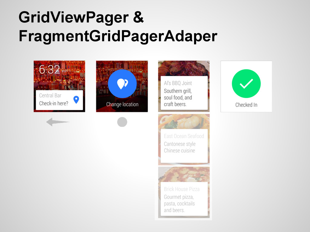 GridViewPager & FragmentGridPagerAdaper