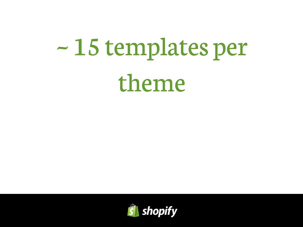 ~ 15 templates per theme