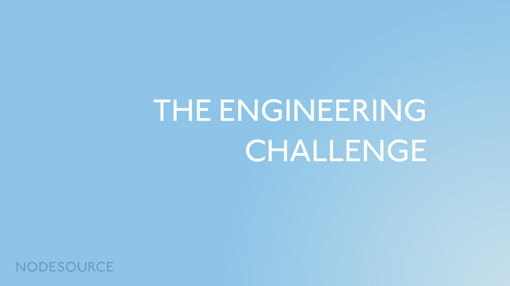 THE ENGINEERING CHALLENGE