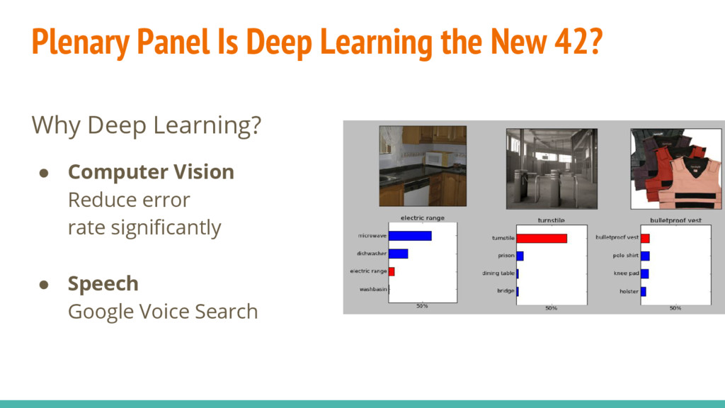 Why Deep Learning? ● Computer Vision Reduce err...