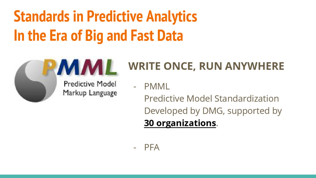 Standards in Predictive Analytics In the Era of...