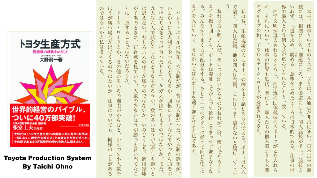 Toyota Production System By Taichi Ohno