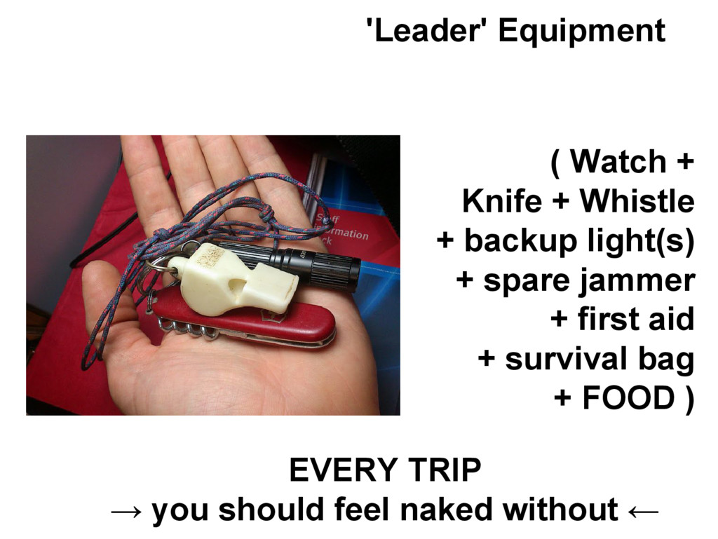'Leader' Equipment ( Watch + Knife + Whistle + ...