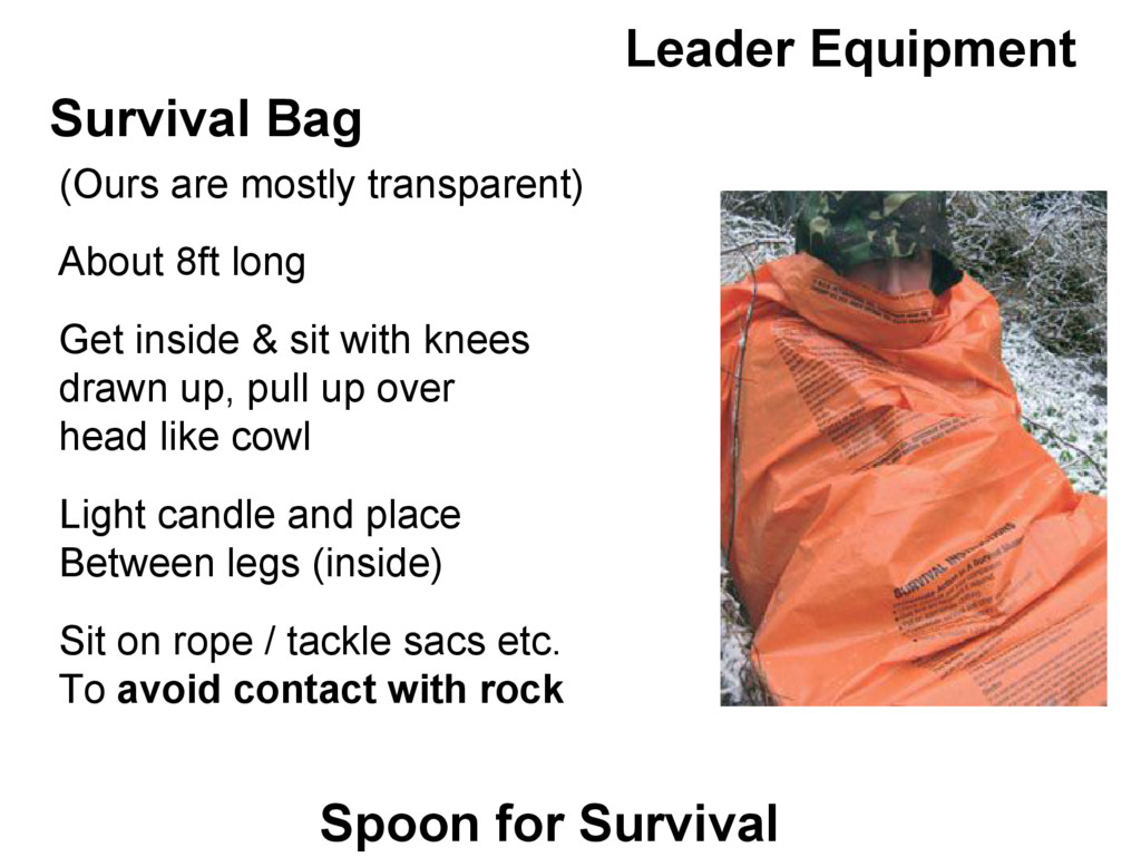 Leader Equipment Survival Bag (Ours are mostly ...