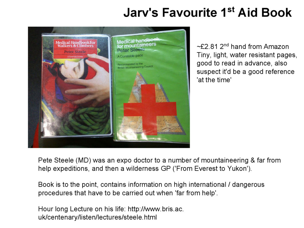 Jarv's Favourite 1st Aid Book Pete Steele (MD) ...