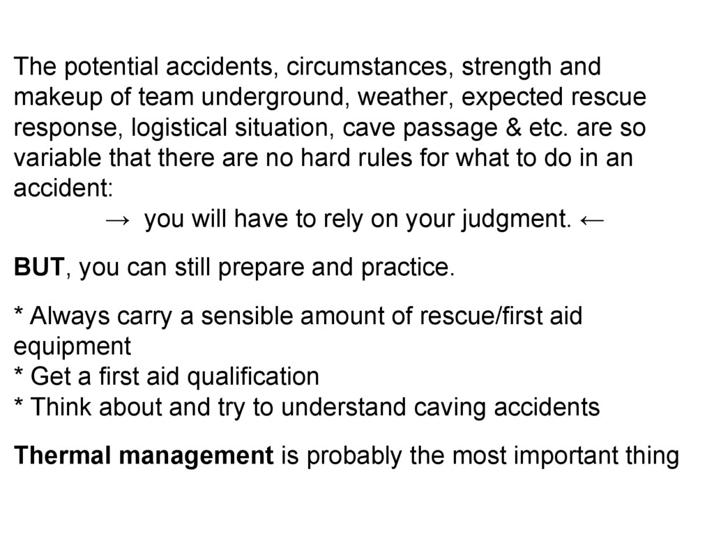 The potential accidents, circumstances, strengt...