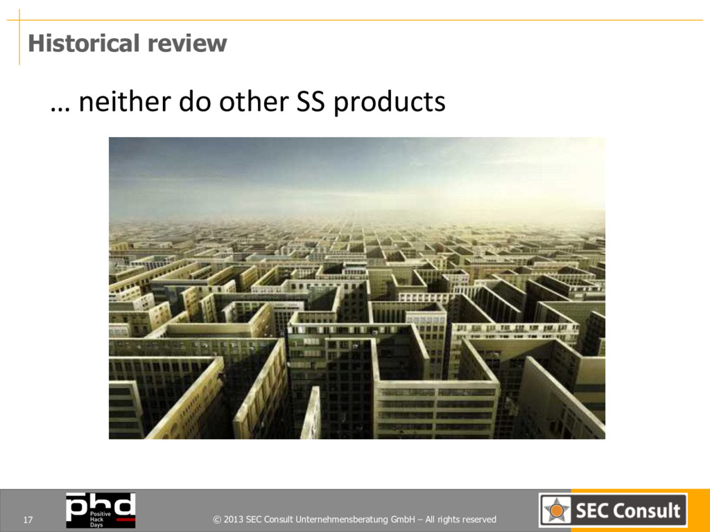 © 2013 SEC Consult Unternehmensberatung GmbH – ...