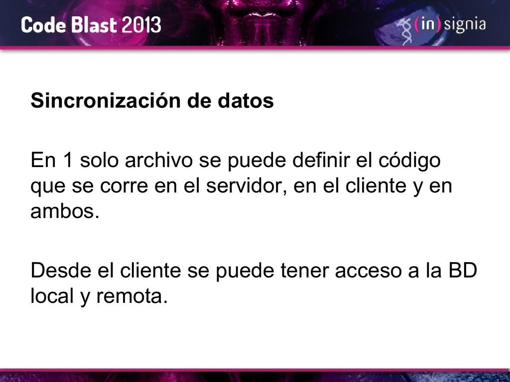 Sincronización de datos En 1 solo archivo se pu...