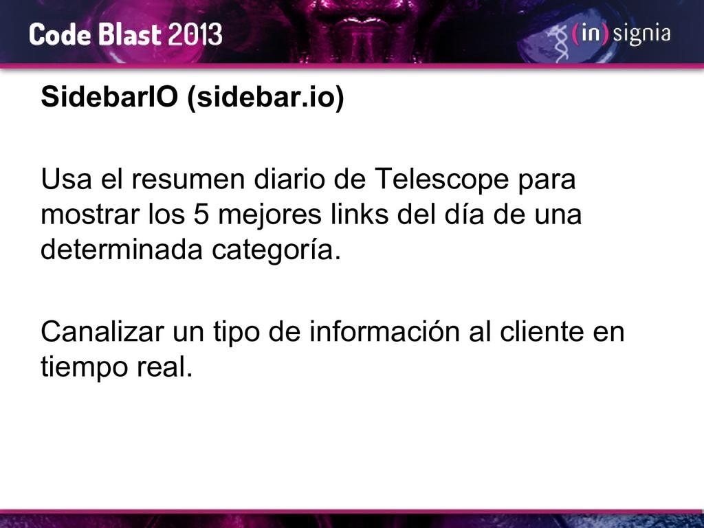 SidebarIO (sidebar.io) Usa el resumen diario de...