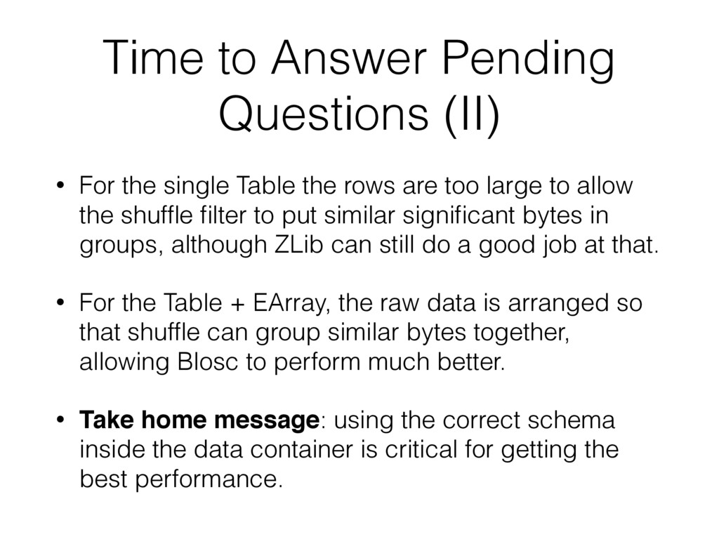 Time to Answer Pending Questions (II) • For the...