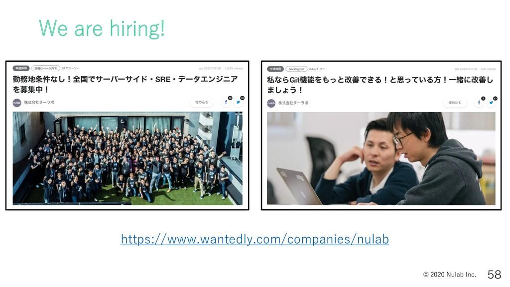 © 2020 Nulab Inc. We are hiring!  https://www...