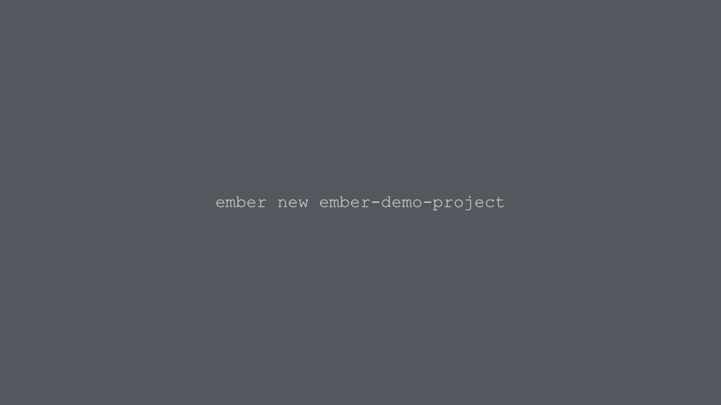 ember new ember-demo-project