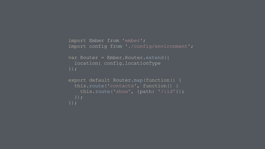 import Ember from 'ember'; import config from '...