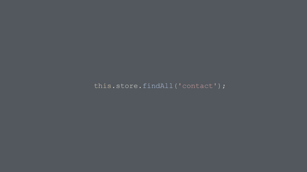 this.store.findAll('contact');