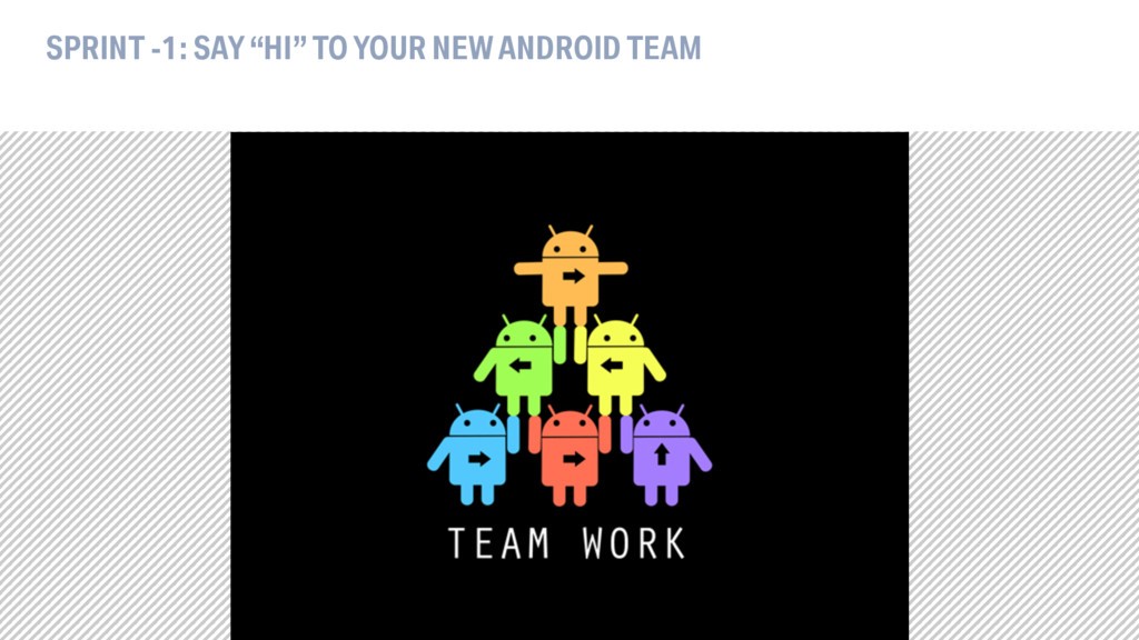 """SPRINT -1: SAY """"HI"""" TO YOUR NEW ANDROID TEAM"""