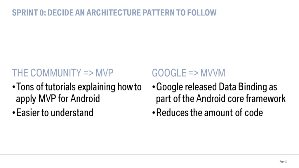 SPRINT 0: DECIDE AN ARCHITECTURE PATTERN TO FOL...