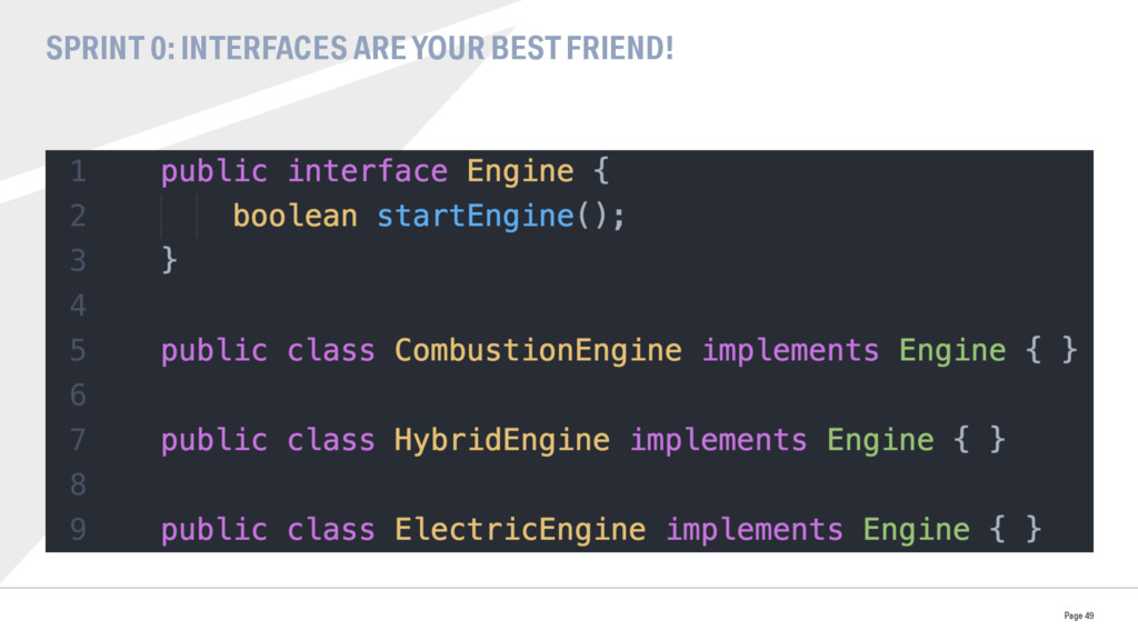 SPRINT 0: INTERFACES ARE YOUR BEST FRIEND! Page...