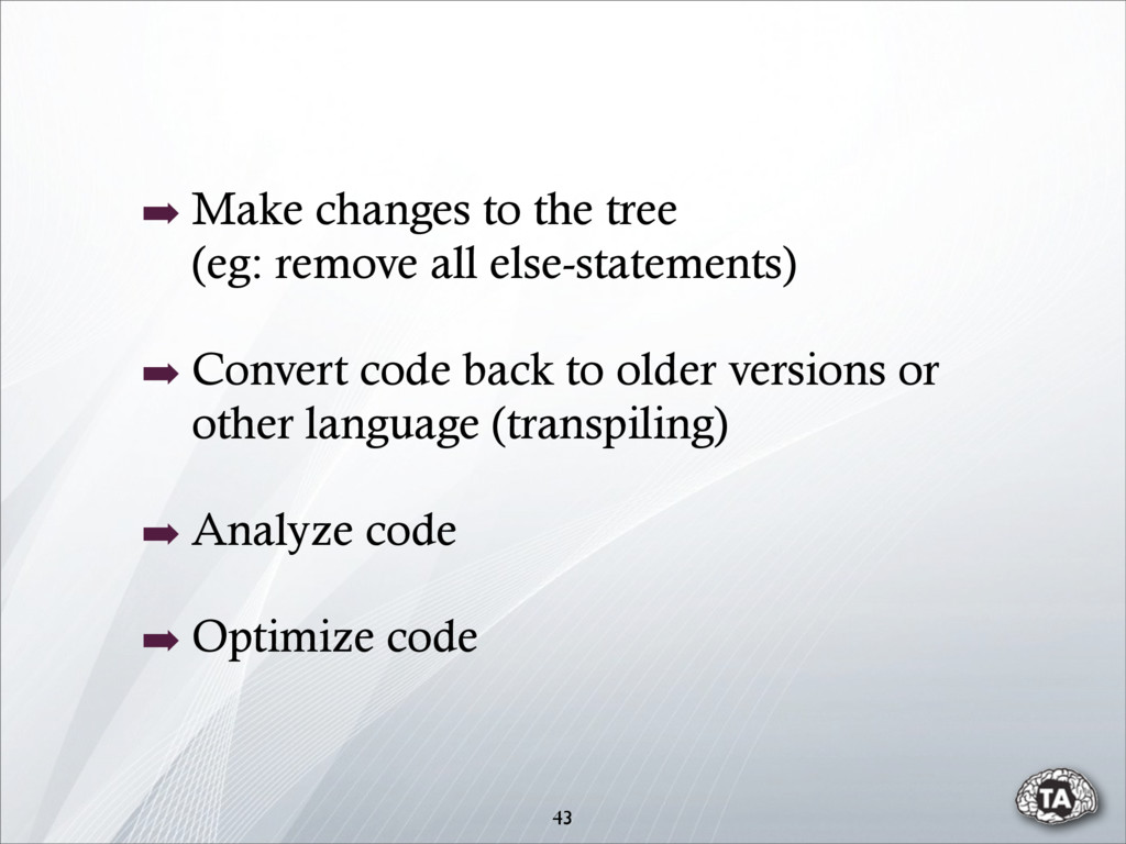 43 ➡ Make changes to the tree (eg: remove all e...