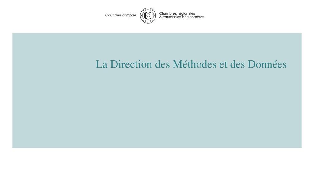 La Direction des Méthodes et des Données 2 2020...