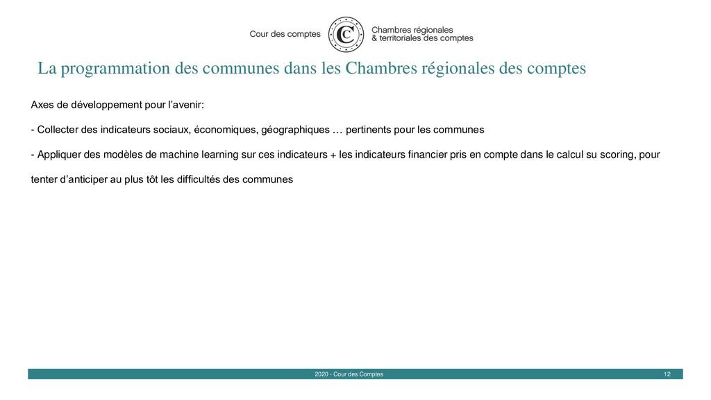 12 2020 - Cour des Comptes La programmation des...