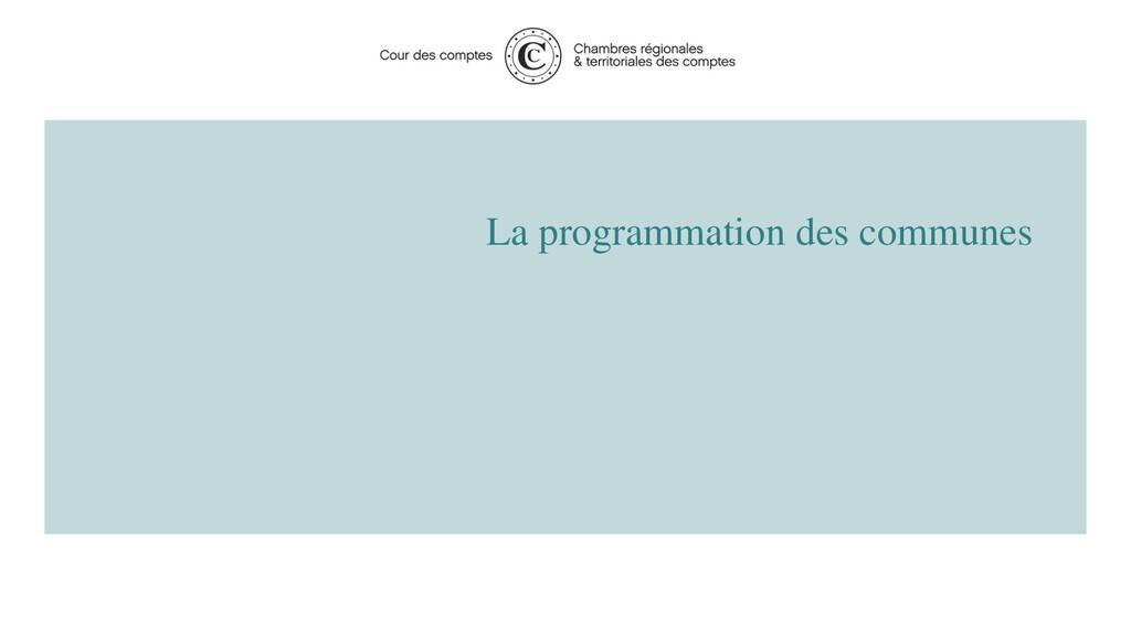La programmation des communes 5 2020 - Cour des...