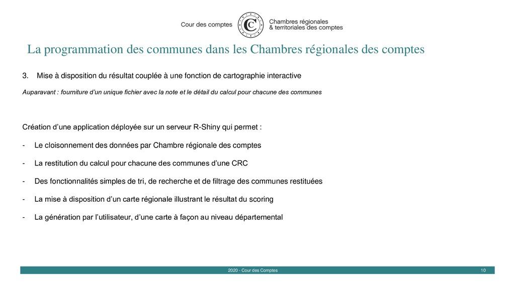 10 2020 - Cour des Comptes La programmation des...