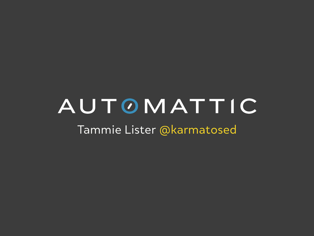 Tammie Lister @karmatosed