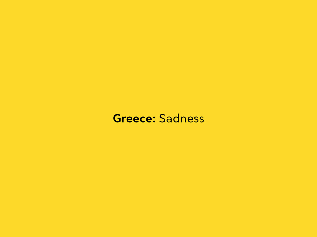 Greece: Sadness