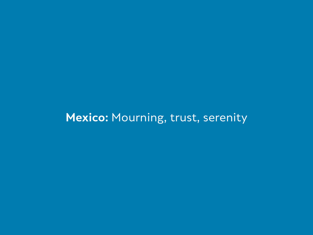 Mexico: Mourning, trust, serenity