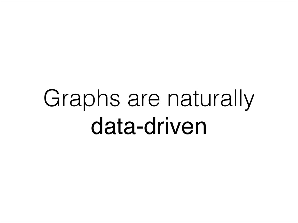 Graphs are naturally data-driven