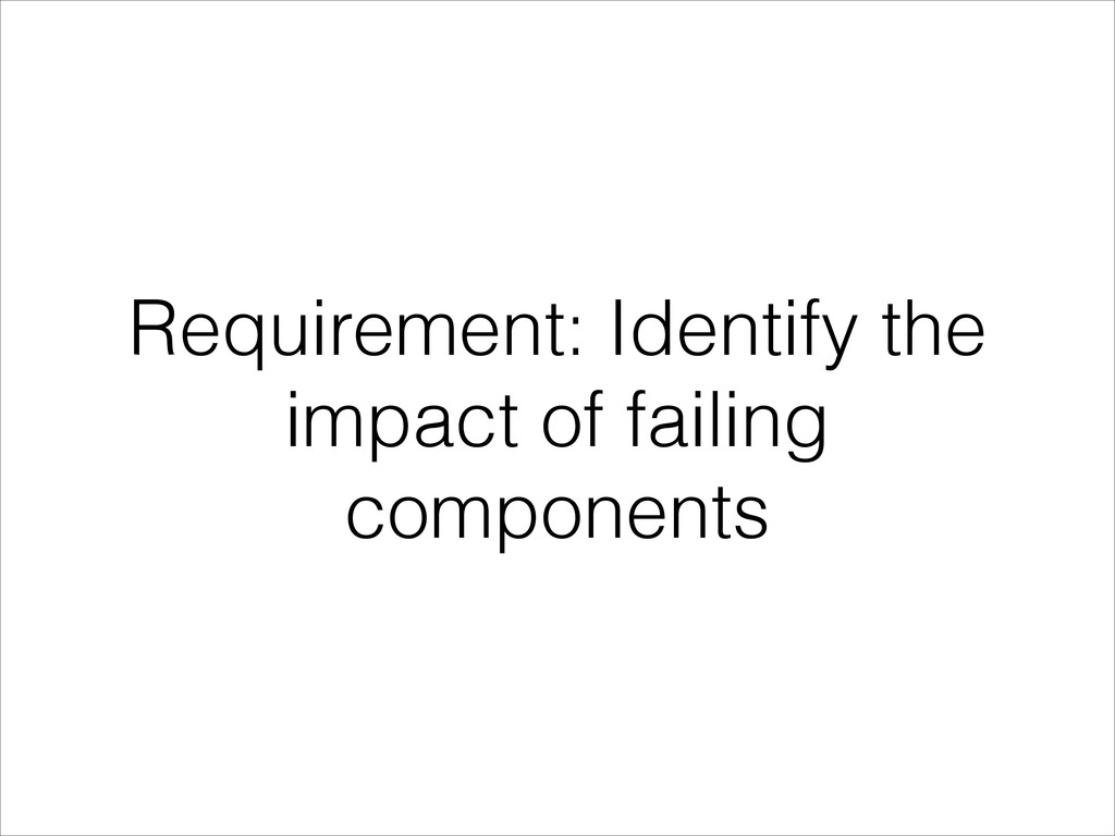 Requirement: Identify the impact of failing com...