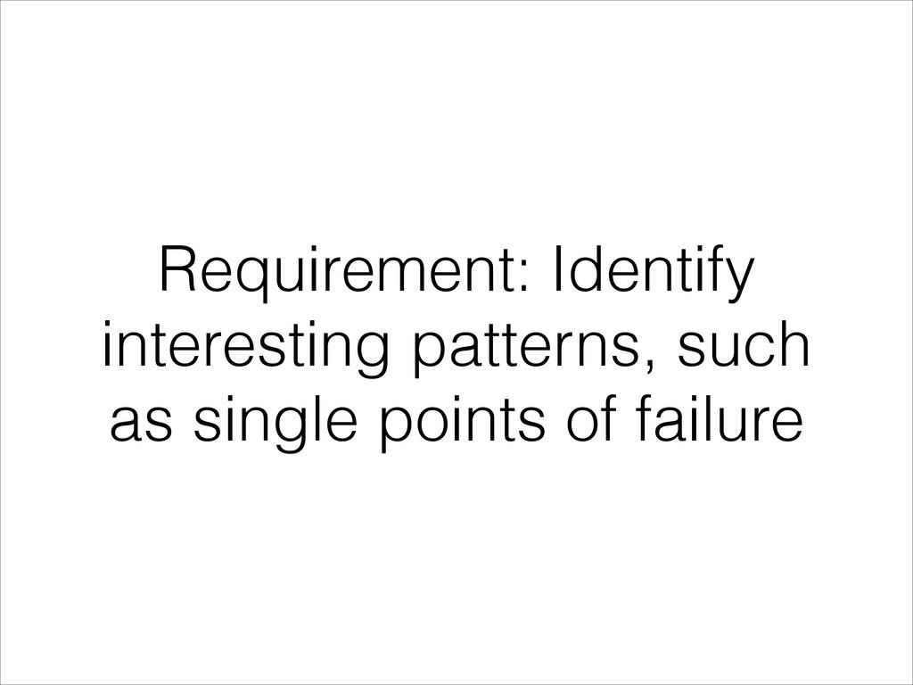 Requirement: Identify interesting patterns, suc...