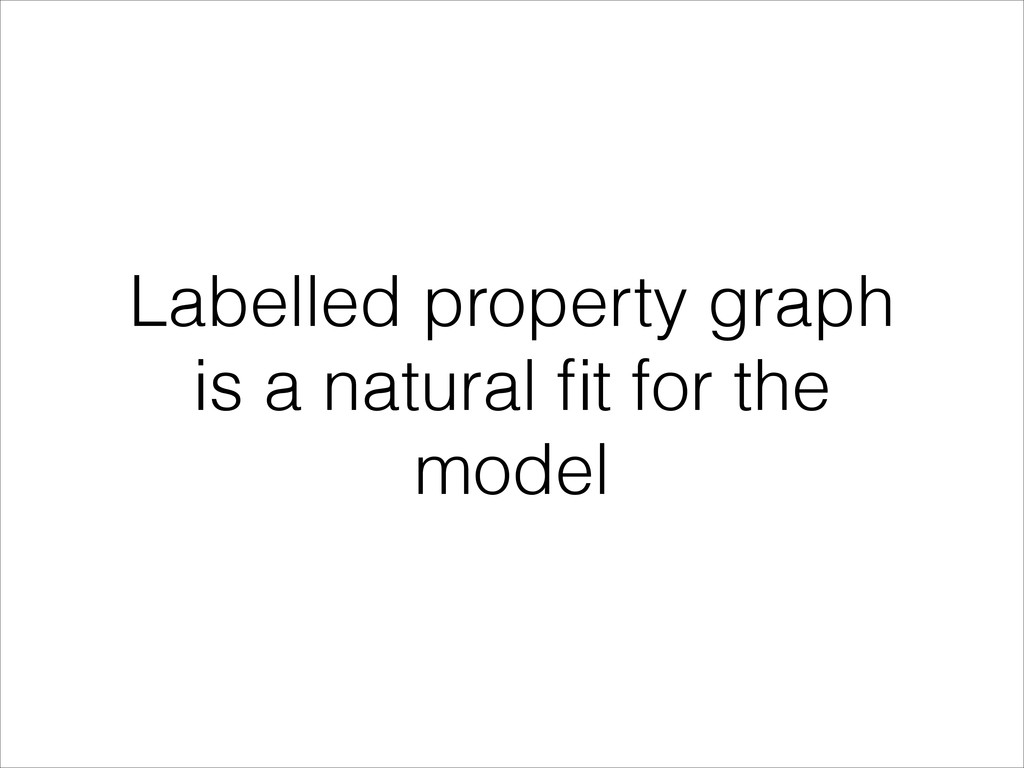 Labelled property graph is a natural fit for the...