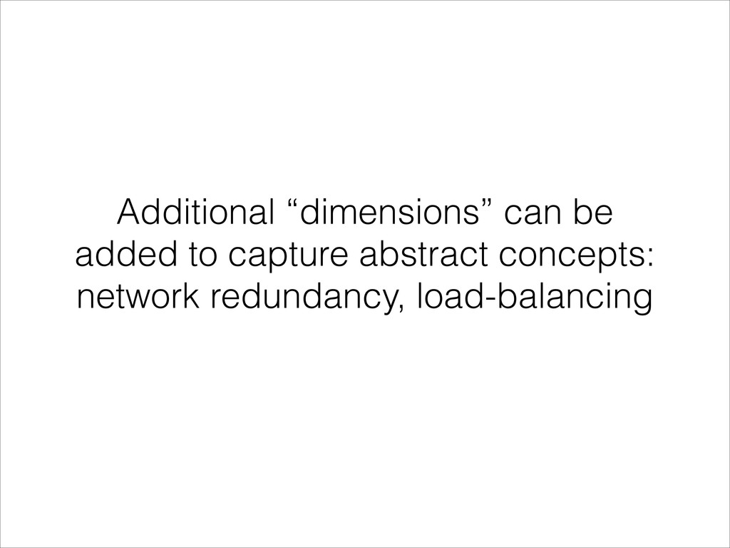 """Additional """"dimensions"""" can be added to capture..."""