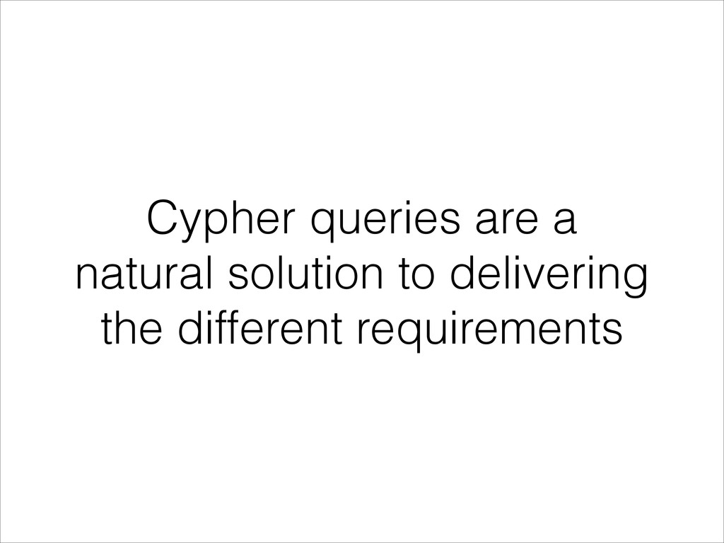 Cypher queries are a natural solution to delive...