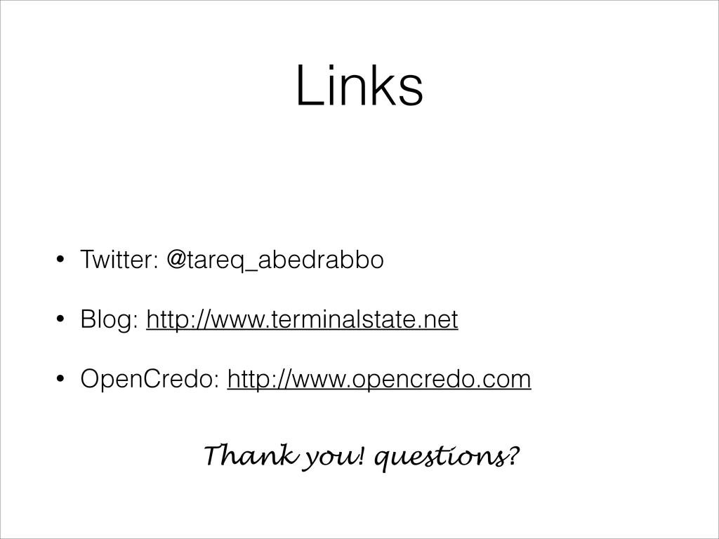 Links • Twitter: @tareq_abedrabbo • Blog: http:...