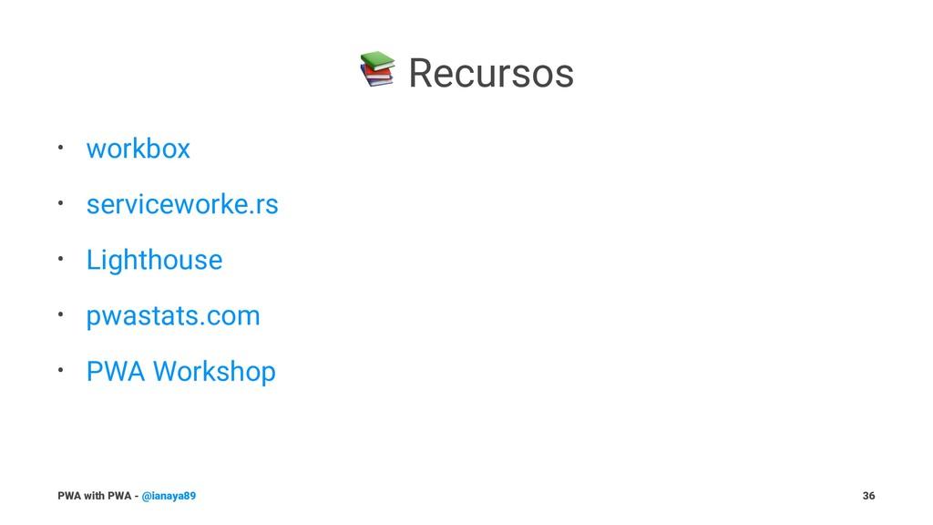 ! Recursos • workbox • serviceworke.rs • Lighth...