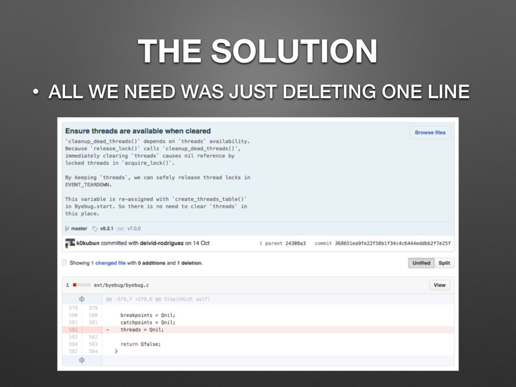 THE SOLUTION • ALL WE NEED WAS JUST DELETING ON...
