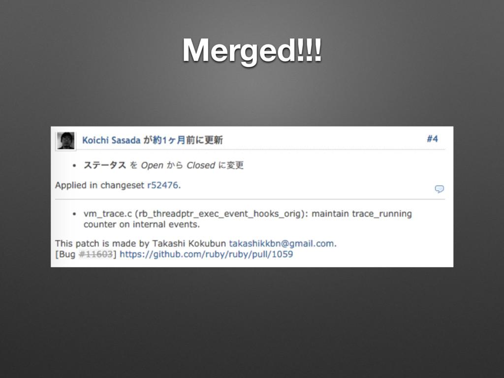 Merged!!!