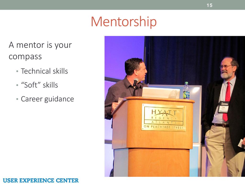 Mentorship 15 A mentor is your compass • Techni...