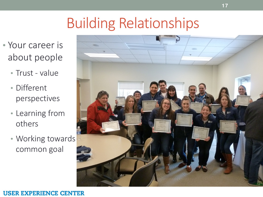 Building Relationships 17 • Your career is abou...