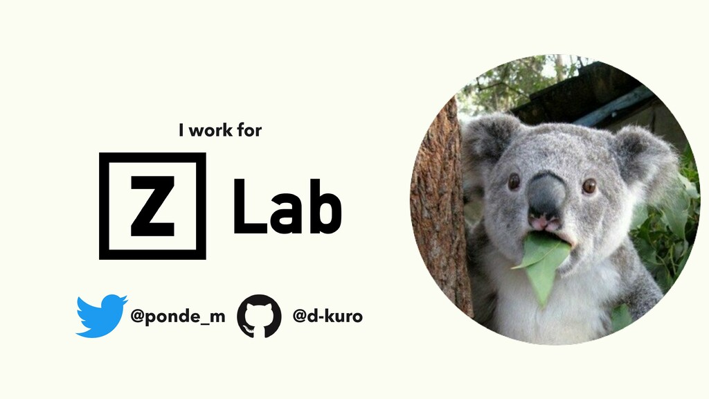 I work for @ponde_m @d-kuro