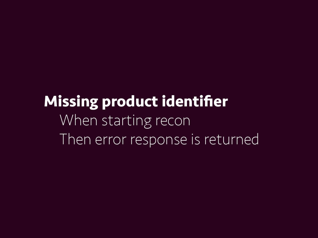 Missing product identifier When starting recon T...