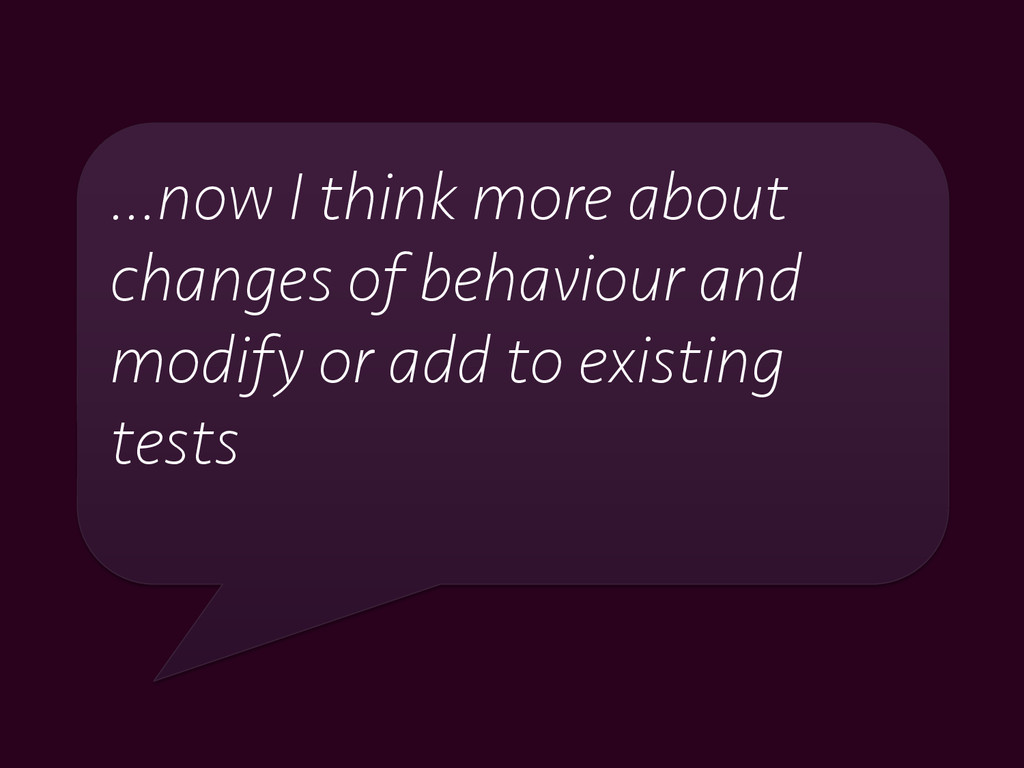 …now I think more about changes of behaviour an...