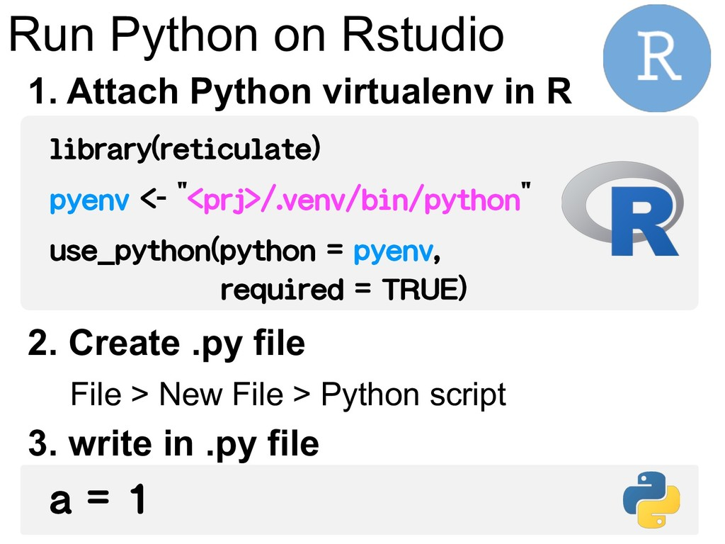 Run Python on Rstudio library(reticulate) pyenv...